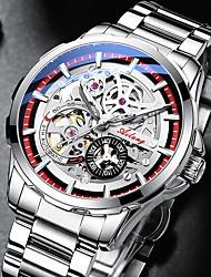 cheap -ailang watch men's watch new automatic mechanical hollow watch