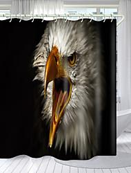 cheap -Big-Billed Eagle Digital Printing Shower Curtain Shower Curtains  Hooks Modern Polyester New Design 72 Inch