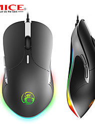 cheap -imice x6 high configuration usb wired gaming mouse computer gamer 6400 dpi optical mice for laptop pc game mouse upgrade x7