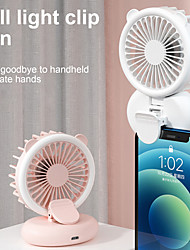 cheap -3 speed Mini Phone Holder Fans Usb Charge clip Fans with 3-level light Student Outdoors Portable Small FanMini Air Cooler Fan With Colorful Light