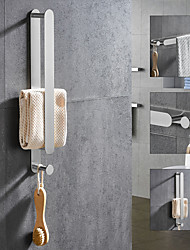 cheap -Brushed Multifunctional Towel Bar with Hook 304 Stainless Steel Electroplated, 40cm, Brushed, Bathroom and Kitchen Shelf Punch-free