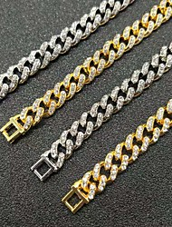 cheap -Women's Men's Necklace Cuban Link European Alloy Silver Gold 50 cm Necklace Jewelry For Street
