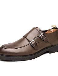 cheap -Men's Loafers & Slip-Ons Formal Shoes Penny Loafers Business Casual Vintage Daily Party & Evening Nappa Leather Cowhide Non-slipping Wear Proof Booties / Ankle Boots Black Brown Spring Summer