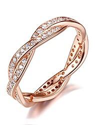 cheap -presentski twist love rose gold engagement ring cubic zirconia eternity wedding band