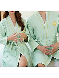 cheap -Superior Quality Bath Robe,Green Couple Long 100% Cotton Water Absorbing Bathrobe Quick Drying Couple Bath Towel