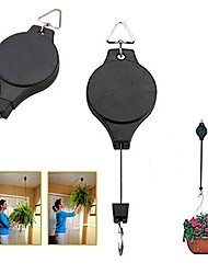 cheap -Retractable Hanging Plant Potted Telescopic Hook Garden Orchid Pots Pulley Pull Down Hanger Bird Cage Free Wheeling Lifting Hook