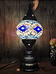 cheap -LED Night Light Turkish Style Handmade Mosaic Retro LED Table Lamp 220V Living Room Bedroom Hotel Holiday Romantic Glass Ramadan Festival Decoration Desk Lamp EU Plug