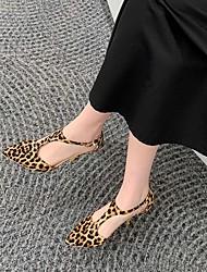cheap -Women's Heels Pumps Faux Leather Leopard White