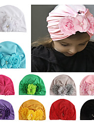 cheap -four diamond flower baby hat, cotton children's hat, baby pullover hat, spot wholesale