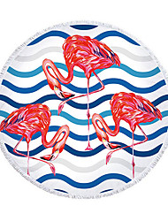 cheap -round beach towel, microfiber beach towel, bath towel, flamingo beach towel, towel factory direct sales