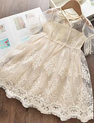 baratos -Infantil Pouco Para Meninas Vestido Floral Branco Vestidos