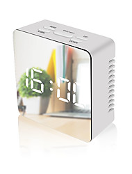 cheap -LED Wall Clock Watch Modern Brief Design 3D DIY Electronic Large Mirror Table Alarm Clocks Office Kids Room Date Time Desk Clock-square