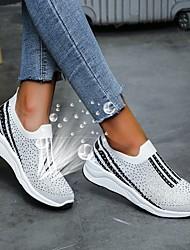 cheap -Women's Flats Flat Heel Round Toe Rubber Mesh White Black Light Red