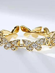 cheap -Band Ring Silver Gold Rhinestone Alloy Butterfly Trendy 1pc Adjustable / Women's / Open Cuff Ring