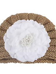 cheap -Kids Baby Girls' New Autumn And Winter Warm Baby Hat Baby Hat Child Simulation Flower Knitted Wool Hat Spot