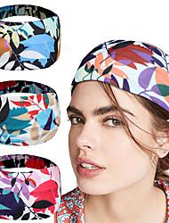 cheap -new color contrast leaf headband headband custom Womens sports yoga antiperspirant headband hair accessories