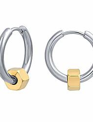 cheap -bodyace stainless steel pendant huggie hoop earrings for men women gold huggie earrings kpop punk ear piercing hip-hop earrings set