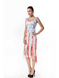 cheap -m283 cross-border exclusively for european and american independent stations amazon hot classic flag print dress in stock