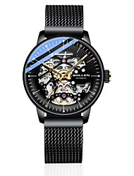 cheap -DOM Men's Mechanical Watch Analog Automatic self-winding Stylish Hollow Engraving Noctilucent / One Year / Titanium Alloy