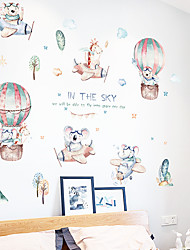 cheap -Cartoon Cloud Small Like A Hot Air Balloon Children's Room Bedroom Kindergarten Wall Background Decoration Can Be Removed Wall Stickers Wall Stickers for bedroom living room