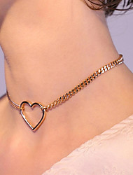 cheap -Women's Necklace Heart Simple Fashion Trendy Sweet Alloy Gold 35 cm Necklace Jewelry 1pc For Street Gift Prom