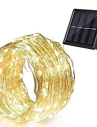 cheap -LED Solar String Lights 24M 240 LEDs Set Outdoor Waterproof Warm White Thanksgiving Day Birthday Wedding Patio Party Solar Powered 2V