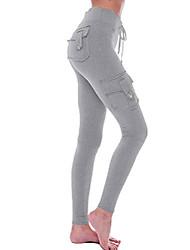 cheap -hsrkb womens cargo pants yoga pants high waist slim fit pant with muti pockets (light grey, xx-large)