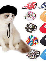 cheap -Dog Cat Hair Accessories Dog Bandana & Dog Hat Dog Accessories Flower / Floral Leopard Geometic Leisure Casual / Sporty Dailywear Casual / Daily Dog Clothes Puppy Clothes Dog Outfits Adjustable Red