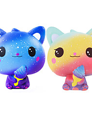 cheap -Squishy Squishies Squishy Toy Squeeze Toy / Sensory Toy Jumbo Squishies 1 pcs Cat Ice Cream Cute Stress and Anxiety Relief Slow Rising PORON For Kid's Adults' Boys' Girls' Gift Party Favor