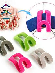 cheap -10pcs Mini Flocking Hooks for Clothes Hanger Closet Organizer Travel Clothes Hanging Organizer Coat Hooks Space Saving
