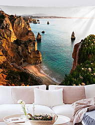 cheap -Wall Tapestry Art Decor Blanket Curtain Hanging Home Bedroom Living Room Grand Polyester Rocky Beach