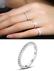 cheap -gold-plated superfine female tail ring full diamond zircon single row diamond micro inlaid open ring