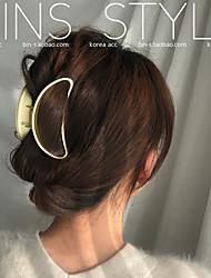 cheap -dongdaemun, south korea, ins personality niche all-match metal matte moon large hair grab lazy plate hairpin
