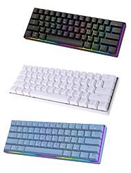 cheap -mini 60% mechanical gaming keyboard 61 keys rgb backlit wired pbt keyboard cap