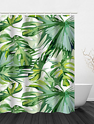 cheap -Shower Curtain Water Proof Colorful Leaves/Landscape Pattern Home Bathroom Decor Polyester Fabric Mildew Resistant With Hooks 72 x 72 Inch