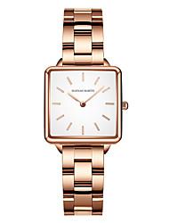 cheap -HANNA MARTIN steel belt japanese quartz movement waterproof square business watch luxury watch ladies watch