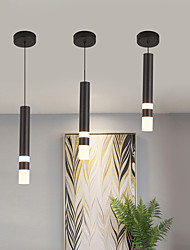 cheap -LED Pendant Light Bedside Light Black Modern 31 cm Single Design Pendant Light Aluminum Stylish Island Painted Finishes 110-240 V