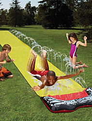 cheap -Water Slide,4.8M Splash Sprint Racing Water Slide for Kids Extra Thick Tear Proof Waterslide Lawn Backyard Garden Summer Water Party Outdoor Toy Watersports Super Waterslide