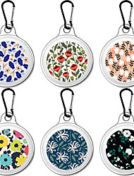 cheap -Floral Pattern Protective Case For Airtags Key Finder Cover Anti-lost Anti-Scratch Protective Sleeve Soft Skin Cover For Apple Airtags Locator Tracker Accessories