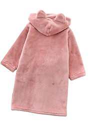 cheap -Superior Quality Flannel bathrobe for Childen, Cute Cartoon Soft  Water Absorbent