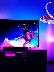 cheap -LED Strip Lights Waterproof 1M RGB Strip Lights 30 LEDs 5050 SMD 10mm 1 24Keys Remote Controller RGB Cuttable USB 5 V USB Powered 1 set IP65