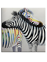 cheap -100% Hand painted By Professional Artist Abstract Zebra Lovers Handmade Abstract Animal Oil Painting On Canvas Living Room Home Decor Decor Art