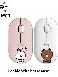 cheap -logitech pebble wireless silent mouse cartoon animal line 1000dpi computer pc laptop mute cordless optical mice