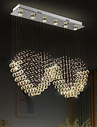 cheap -Crystal Chandelier Heart Design Hot K9 Rectangle Hanging Lamp for Living Room Dining Room wave Crystal Chandelier Bar island cabinet lamp ceiling pendant lights