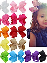 cheap -6 Inch Hair Bows For Girls Big Large Grosgrain Ribbon Boutique Hair Bow Clips For Teens Toddlers Kids Set of 20