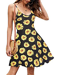 cheap -geesenss adjustable strappy summer beach floral swing dress casual fit sexy summer dress pattern5 s