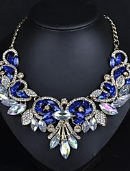 cheap -Women's Collar Necklace Classic Modern Imitation Diamond Alloy White Blue Purple 43+7 cm Necklace Jewelry 1pc For Party Evening Engagement Festival
