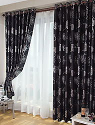cheap -American Country Style Hot Silver Embossed Full Blackout Curtains For Living Room Bedroom Study Room Curtains