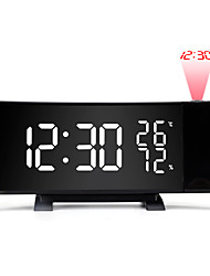 cheap -Creative TS-5210 LED Projection Alarm Clock Digital Radio Snooze Timer Temperature LED Display FM Radio Three Color Clock