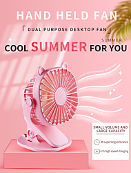 cheap -Portable USB Table Fan Clip fan Rechargeable Mini Desk Fan Adjustable Clip Fan Home Office